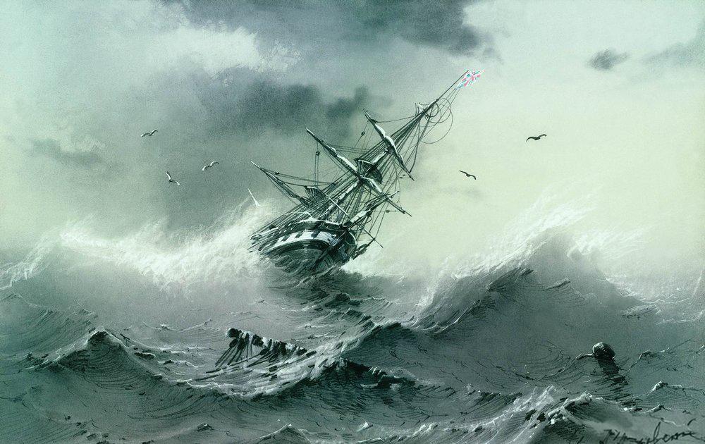 shipwreck by Ivan Alvazovsky