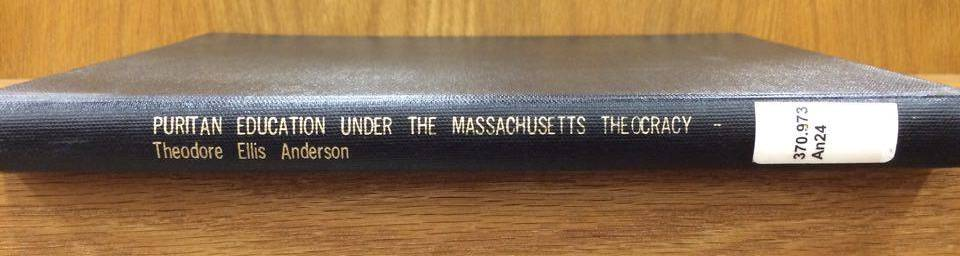 Ted Anderson's master's thesis, four copies of which are available in the BJU Mack Library.